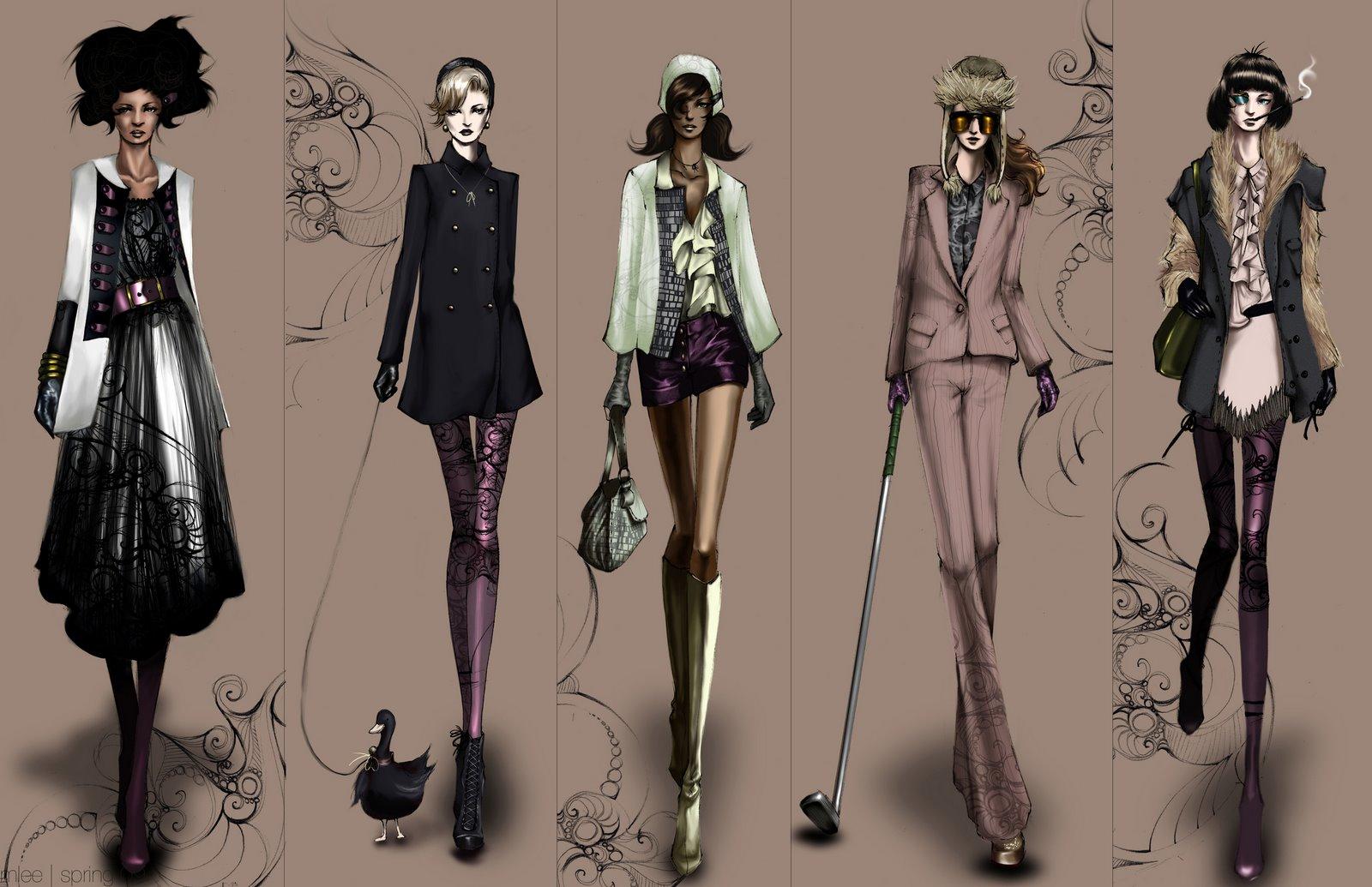 Fashion Mode Illustration HD Wallpaper